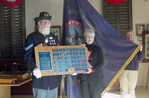 138th Flag Plaque