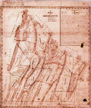 1817 Whiteside Map of Bedford County
